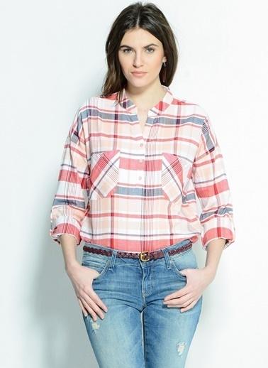 Vero Moda Vero Moda Kareli Kadın Gömlek Beyaz